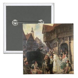 The Bride, 19th century 15 Cm Square Badge