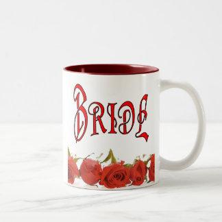 The Bride (1) One Rose Row Two-Tone Mug