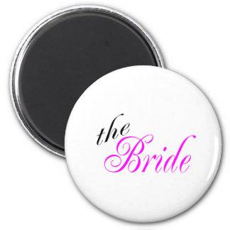 The Bride 6 Cm Round Magnet