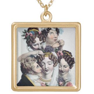 The Bride, c.1820 (litho) Square Pendant Necklace