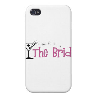 The Bride Cartoon Martini Covers For iPhone 4