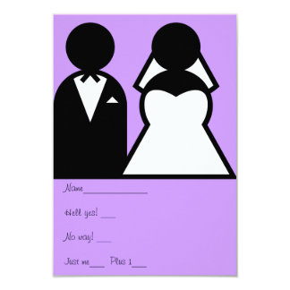 The Bride & Groom 9 Cm X 13 Cm Invitation Card
