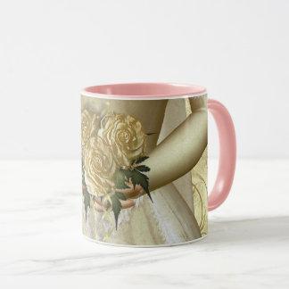 """The Bride """"Hers"""" (ivory) Wedding Mug"""