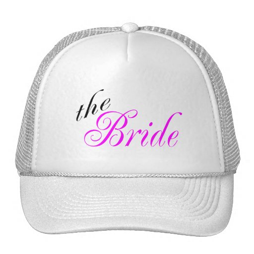 The Bride Pink and Black Trucker Hat