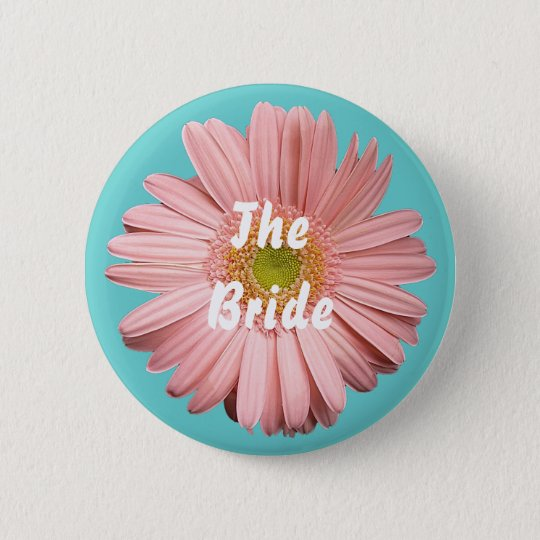 The Bride, Pink gerbera button