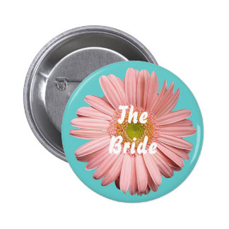 The Bride, Pink gerbera button