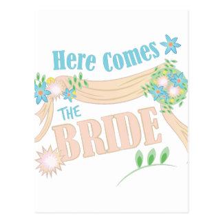 The Bride Postcard