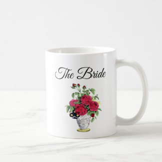 The Bride Red Roses Bouquet Mug