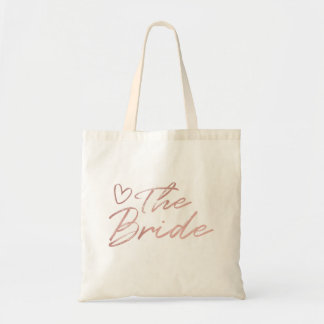 The Bride - Rose Gold faux foil tote bag