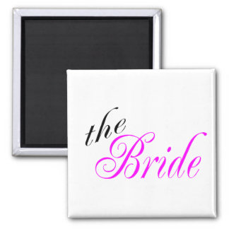 The Bride Square Magnet
