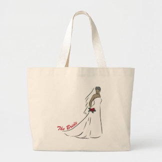 The Bride Totebag Large Tote Bag