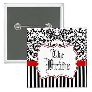 the bride,wedding pinback button