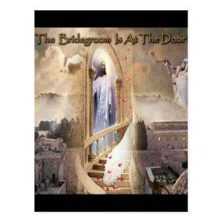 The Bridegroom is at the Door Postcard