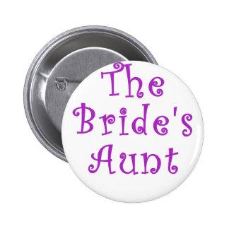 The Brides Aunt 6 Cm Round Badge