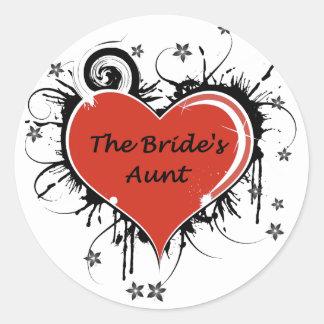 The Brides Aunt Round Sticker