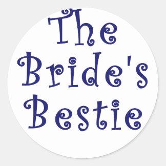 The Brides Bestie Round Sticker