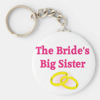 The Bride's Big Sister Basic Round Button Key Ring