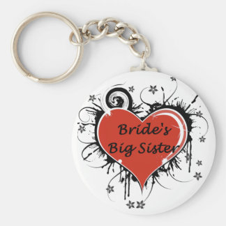 The Brides Big Sister Basic Round Button Key Ring