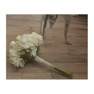 The Bride's Bouquet Wooden Wall Art Wood Print