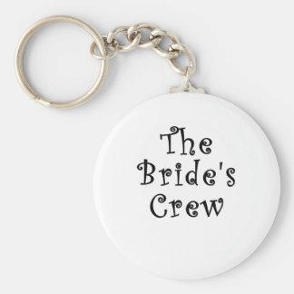 The Brides Crew Basic Round Button Key Ring