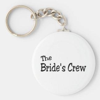 The Brides Crew (Black) Basic Round Button Key Ring