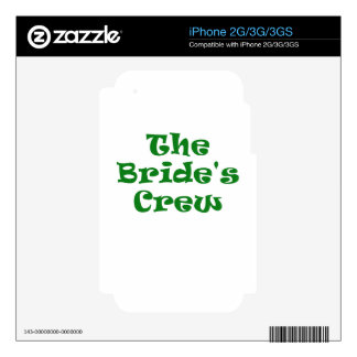 The Brides Crew Decal For The iPhone 3