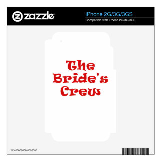 The Brides Crew Decals For The iPhone 2G
