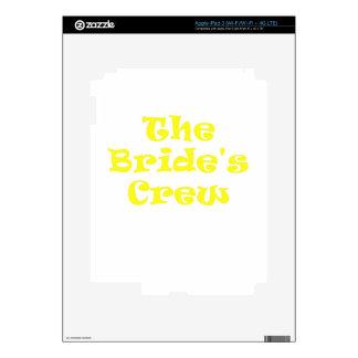 The Brides Crew iPad 3 Decal