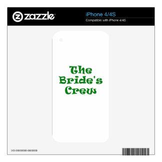 The Brides Crew iPhone 4 Decals