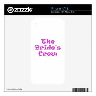 The Brides Crew iPhone 4S Skins