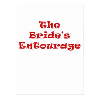 The Brides Entourage Postcard