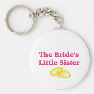 The Bride's Little Sister Basic Round Button Key Ring