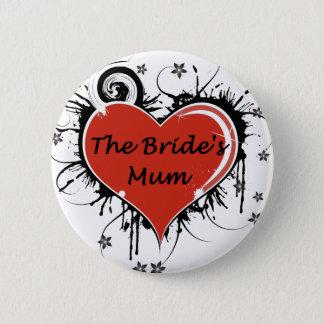 The Bride's Mum 6 Cm Round Badge