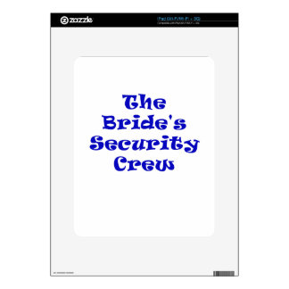The Brides Security Crew Decal For iPad