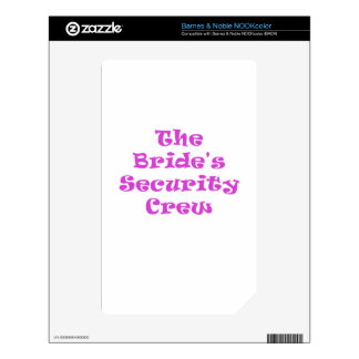 The Brides Security Crew Decal For NOOK Color