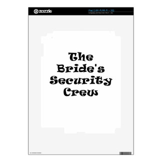 The Brides Security Crew Decal For The iPad 2