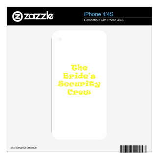 The Brides Security Crew Decals For iPhone 4