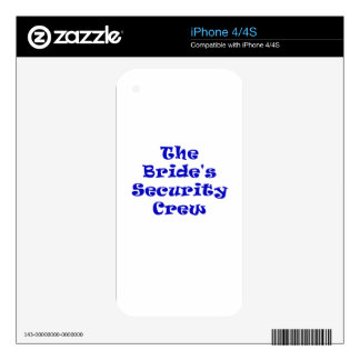 The Brides Security Crew Decals For iPhone 4S