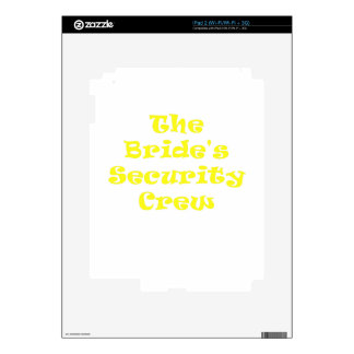 The Brides Security Crew iPad 2 Decal