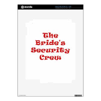 The Brides Security Crew iPad 2 Decals