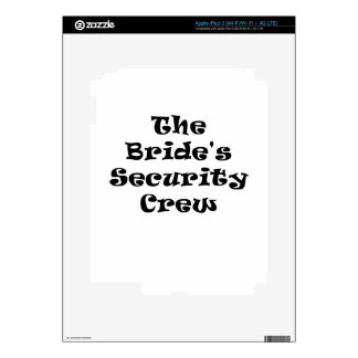 The Brides Security Crew iPad 3 Decal