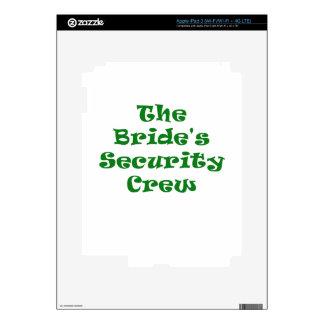 The Brides Security Crew iPad 3 Skin