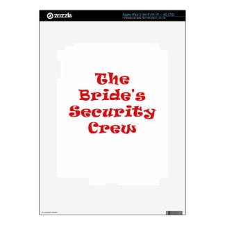 The Brides Security Crew iPad 3 Skins