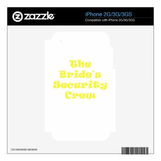 The Brides Security Crew iPhone 3 Skin