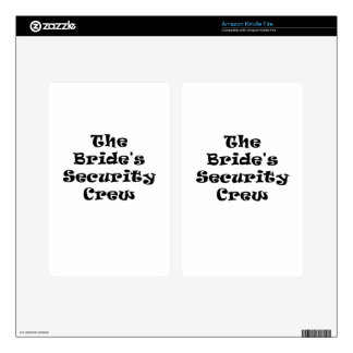 The Brides Security Crew Kindle Fire Decals