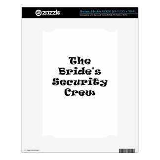 The Brides Security Crew NOOK Decal