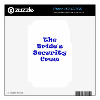 The Brides Security Crew Skin For The iPhone 3GS