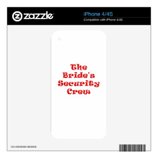 The Brides Security Crew Skins For The iPhone 4S