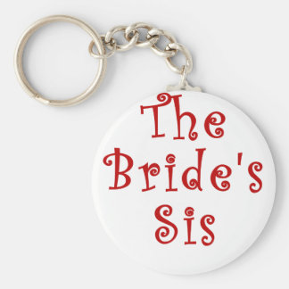 The Brides Sis Basic Round Button Key Ring