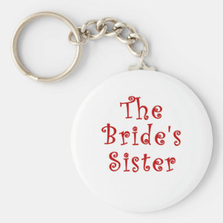 The Brides Sister Basic Round Button Key Ring